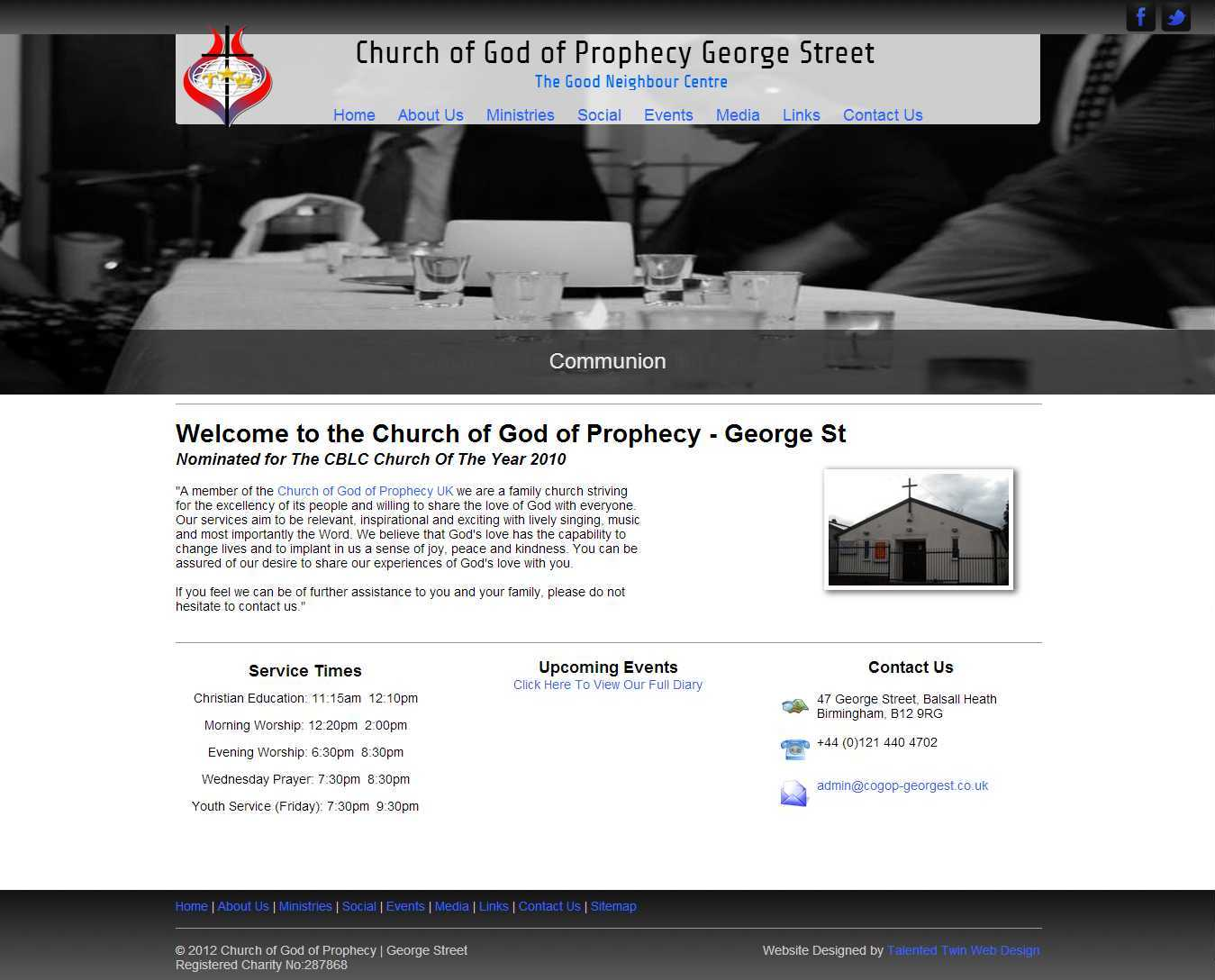 Church of God of Prophecy Homepage
